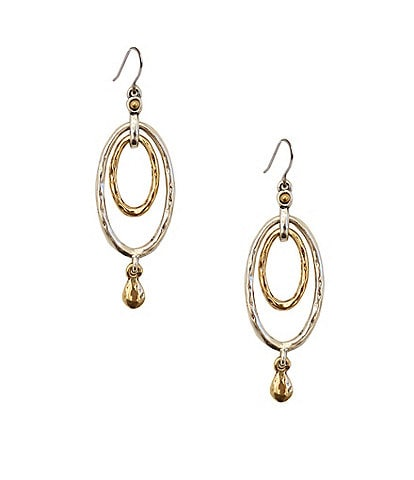 Lucky Brand Two-Tone Oval Orbital Earrings