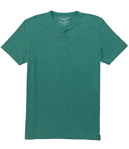 Lucky Brand Venice Burnout Notch Neck Short-Sleeve T-Shirt