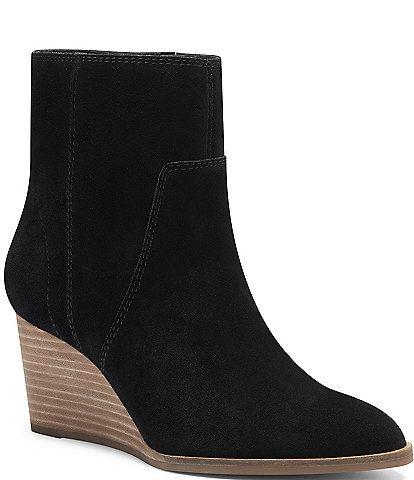 Lucky Brand Wafael Suede Wedge Booties