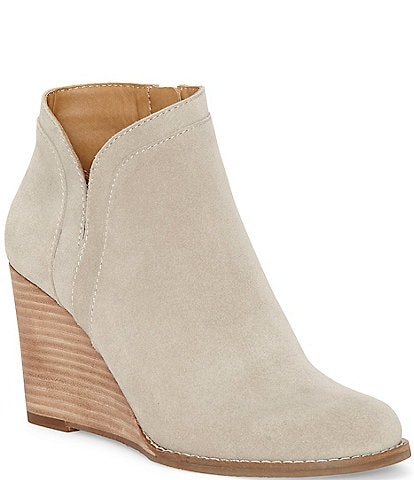 Lucky Brand Yimina Waterproof Suede Wedge Booties