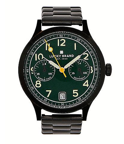 Lucky Jefferson Multifunction Black Bracelet Watch
