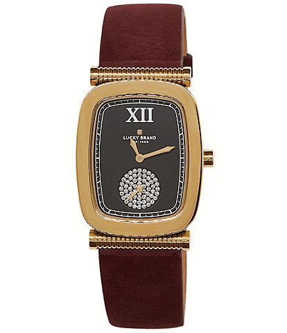 Lucky Laurel Berry Leather Watch