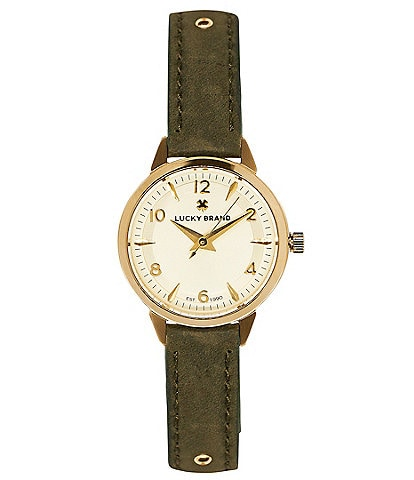 Lucky Torrey Mini Olive Studded Leather Wrap Watch