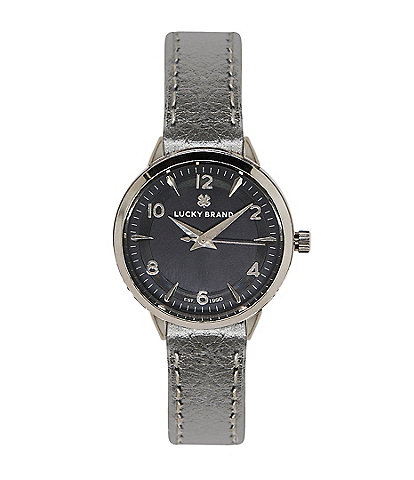 Lucky Torrey Mini Silver Metallic Wrap Watch