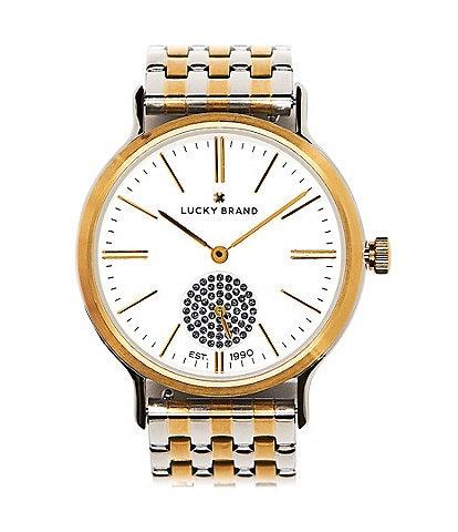 Lucky Ventana Two Tone Bracelet Watch