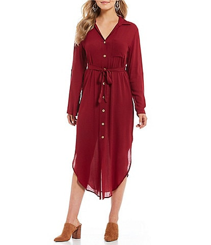 Lucy Love Crazy Good Button Front Shirt Dress