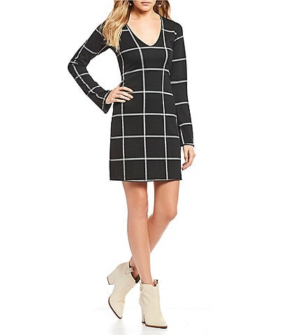 Lucy Love Golden Gate Windowpane Plaid Dress