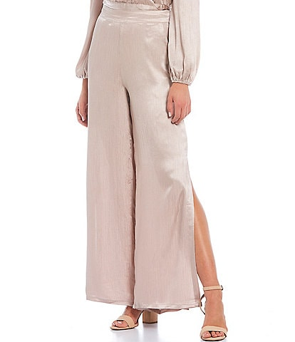 Lucy Paris Jelena Charmeuse Wide Leg Pull-On Pants
