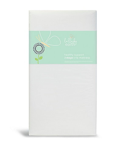 Lullaby Earth Healthy Support Waterproof Crib Mattress 2-Stage Dual Firmness