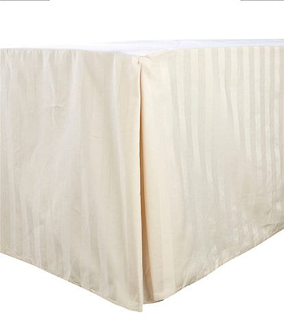 Luxury Hotel Damask Stripe 600 Thread-Count Supima Cotton Bed Skirt