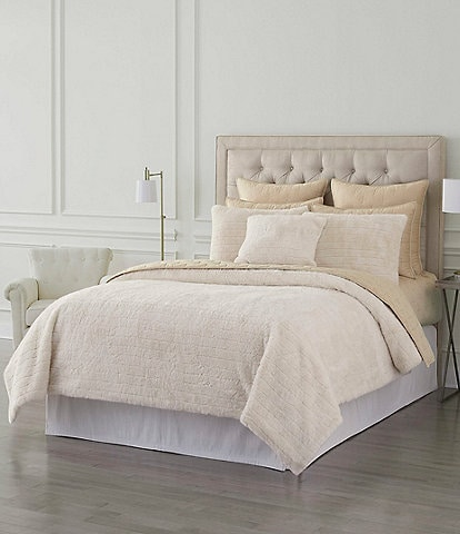Luxury Hotel Leone Faux Fur Comforter Mini Set