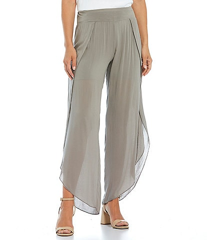 M Made in Italy Viscose Tulip Wide Leg Knit Pants