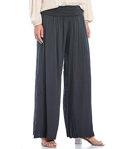 M Made in Italy Wide Leg Pull-On Pant