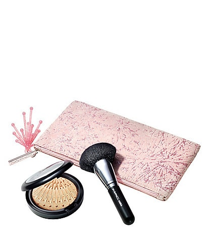 MAC Frosted Firework Collection Firelit Face Kit in Gold