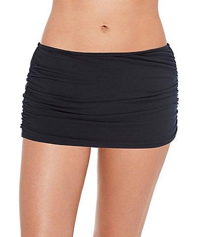 Magicsuit Solids Shirred Swim Skirt
