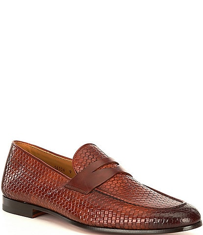 Magnanni Men's Altea Woven Leather Loafers