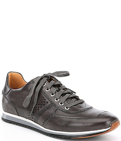 Magnanni Men's Cristian Perforated Leather Sneakers