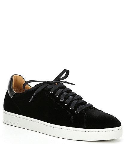 Magnanni Men's Dalia Velvet Lace-Up Sneakers