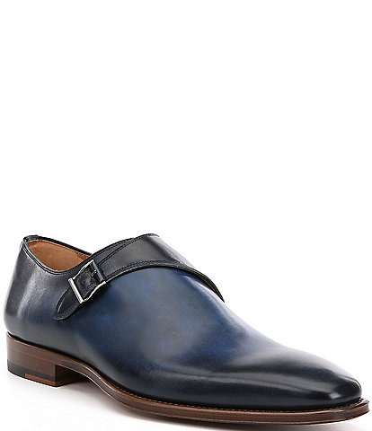 Magnanni Men's Hermosa Leather Monk Straps