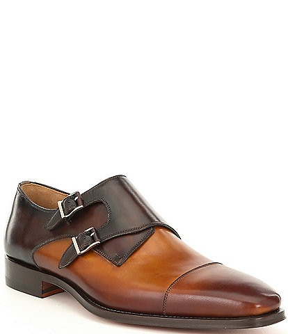 Magnanni Men's Jaden Double Monk Strap Dress Shoe