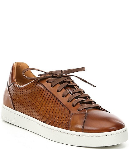 Magnanni Men's Leather Basilio Low Sneaker