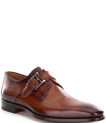 Magnanni Men's Marco II Monk Strap Leather Dress Shoes