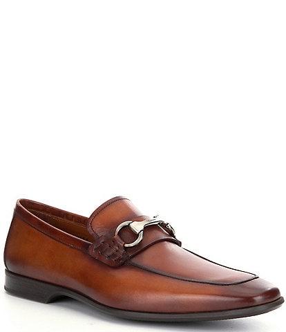 Magnanni Men's Rafa 2 Leather Bit Buckle Detail Moc-Toe Dress Shoes