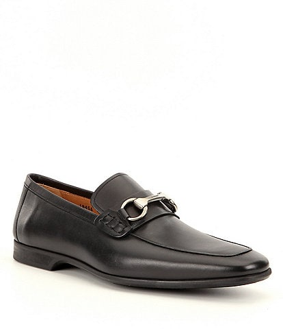 Magnanni Men's Rafa 2 Leather Bit Buckle Detail Moc-Toe Dress Shoes