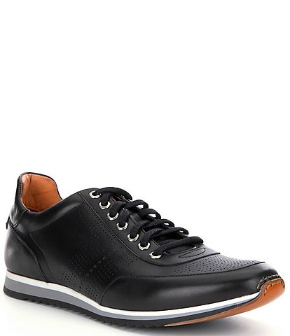 Magnanni Men's Pueblo Perforated Leather Sneakers