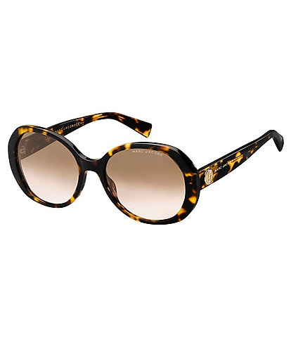 Marc Jacobs Oval Gradient Lens Sunglasses
