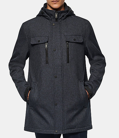 Marc New York #double;Doyle#double; Long-Sleeve Melange Tech Four-Pocket Hooded Jacket