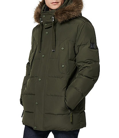 Marc New York #double;Gattica#double; Long-Sleeve Faux-Fur-Trimmed Hooded Parka