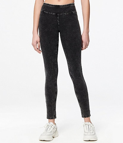 Marc New York Knit Denim Look Wide Waistband Jegging