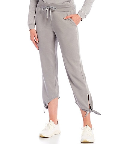 Marc New York Washed French Terry Cropped Drawstring Pants