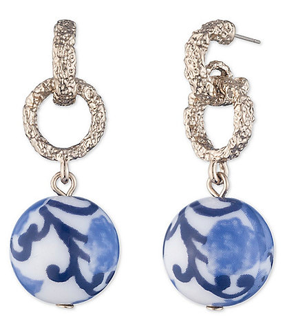 Marchesa Blue and White Drop Earrings