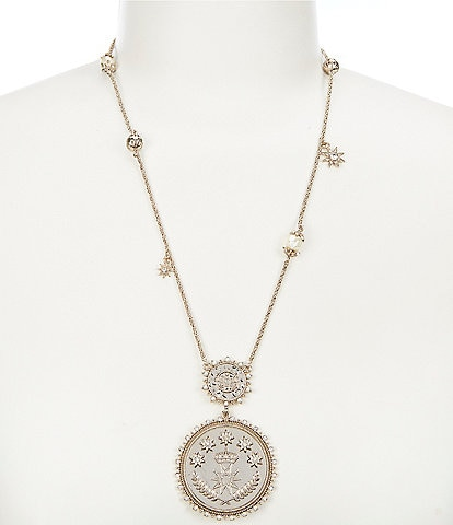 Marchesa Coin Pendant Necklace