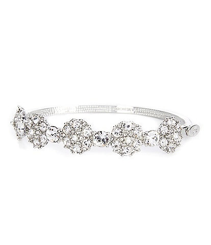 Marchesa Crystal Cluster Bangle Bracelet