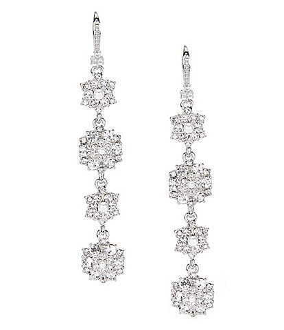 Marchesa Crystal Cluster Linear Earrings