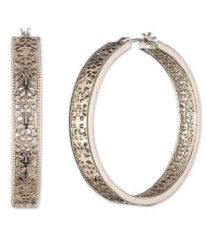 Marchesa Filigree Hoop Earrings