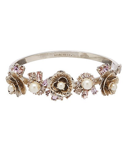 Marchesa Flower Bangle Bracelet