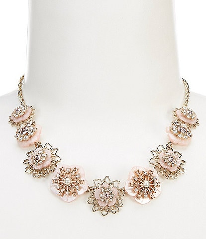 Marchesa Flower Frontal Necklace