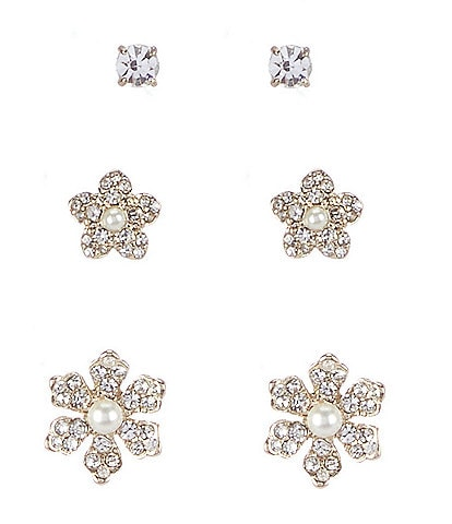 Marchesa Flower Trio Stud Earring Set