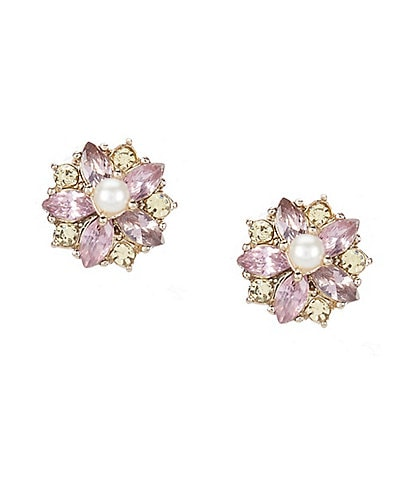 Marchesa Small Button Earrings