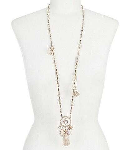 Marchesa Tassel Pendant Necklace