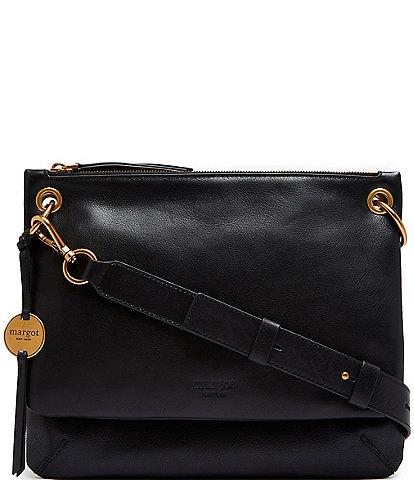 Margot Kiera Double Zip Leather Crossbody Bag