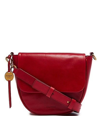 Margot Macie Leather Large Flap Crossbody Bag
