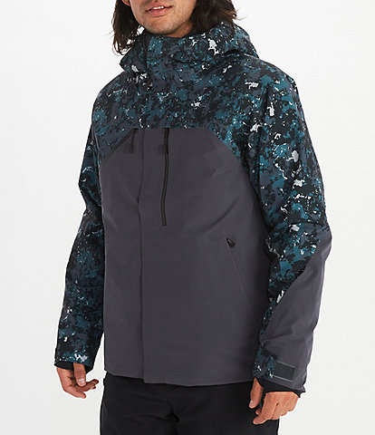 Marmot Camouflage Zip-Front Torgon Insulated Snow Ski Jacket