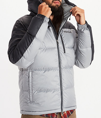Marmot Guides Colorblock Down Puffer Hooded Jacket