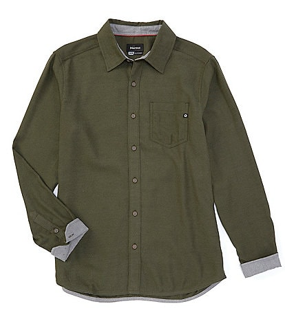 Marmot Hobson Solid Midweight Flannel Long-Sleeve Woven Shirt