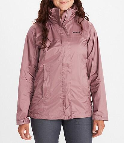 Marmot PreCip® NanoPro™ Packable Stand Collar Neck Long Sleeve Hooded Eco Rain Jacket